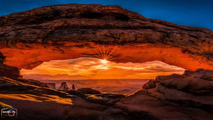 Sunburst Under Mesa Arch Zion National Park